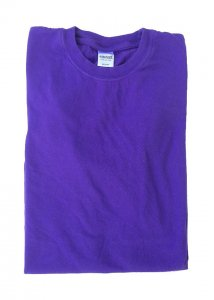 Ajaxx63 Athletic Fit Barefront Short Sleeved T Shirt Purple BAS18