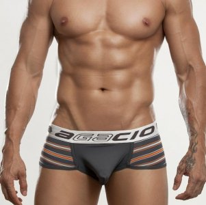 Agacio Stripe Contoured Pouch Brief Underwear Grey 6804