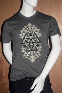 Sauvage Tribal Short Sleeved T Shirt Charcoal
