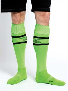 Mister B Urban Football Pocket Socks Neon Green 820170