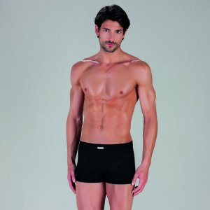 Minerva [3 Pack] Sporties Eco Inside Elastic Boxer Brief Underwear Black 23026