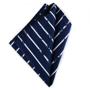 Ulterior Motive Preppy Invasion Handkerchief Navy/White