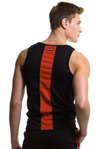 N2N Bodywear Sport Tank Top T Shirt Black/Red SP4