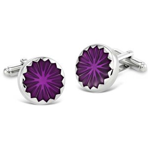 Duncan Walton Mortimer Cufflinks Purple C2705