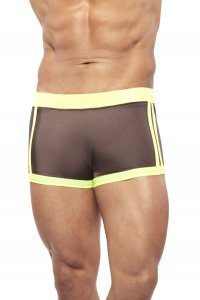 Narciso Square Cut Trunk Swimwear BAHAMAS BROWN/YELLOW