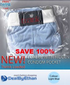 Twink Loaded Classic Brief FREE Men's Underwear Light Blue