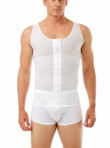 Underworks Shapewear Compression Post Surgical Tank Top T Shirt White 990100