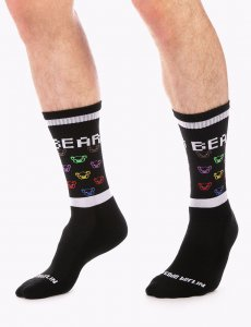 Barcode Berlin Small Bear Gym Socks Black/White 91631-101