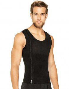 Diane & Geordi Zipper Shapewear Tank Top Black 2415