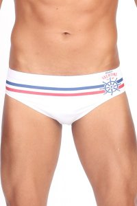Manus Nautical Bikini Swimwear White