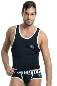L'Homme Invisible Gym Singlet Tank Top T Shirt Black SP43-CON-001