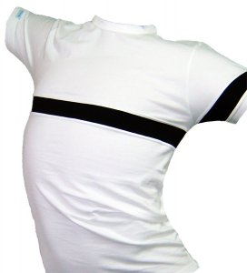Lord Contrast Chest Strap Short Sleeved T Shirt White 508