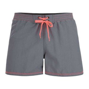 Litex Solid Mesh Lined Shorts Swimwear Grey/Orange 93669