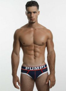 Pump! Big League Brief Underwear Navy/Red 12033