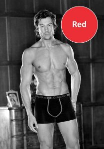 iCollection Bamboo Contrast Trim Boxer Brief Underwear Red 8...