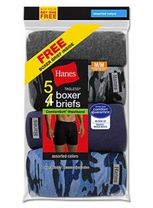 Hanes [5 Pack] Comfort Soft Boxer Brief Underwear Assorted V...
