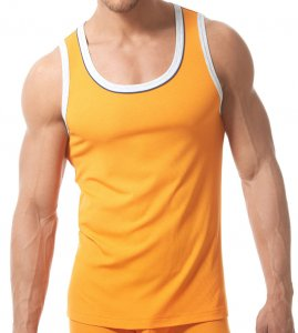 Gregg Homme SENSE Tank Top T Shirt Orange 150602