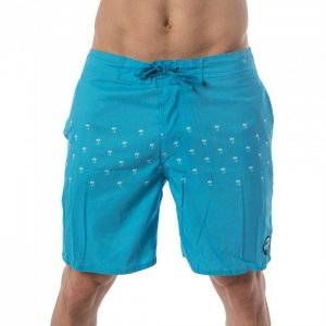 Lord Palm Tree Panel Boardshorts Beachwear Light Blue MA007