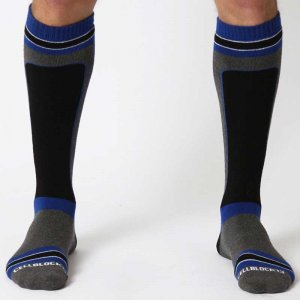 CellBlock 13 X-Treme Hybrid Knee High Socks Blue A034