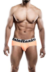 MaleBasics Performance Microfiber Brief Underwear Orange MBM...