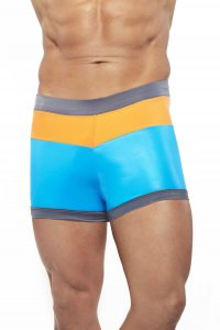Narciso Square Cut Trunk Swimwear DAYTONA TURQUOISE/ORANGE