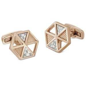 Duncan Walton Gavel Cufflinks Rose Gold C2803