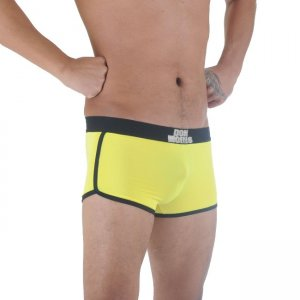 Don Moris Contrast Trim Boxer Brief Underwear Yellow/Black DM291136