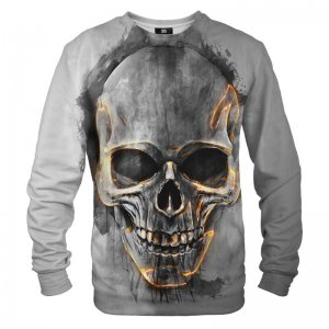 Mr. Gugu & Miss Go Fire Skull Unisex Sweater S-PC1041
