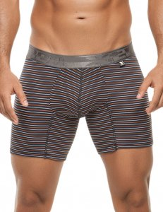 Xtremen Stripe Microfiber Boxer Brief Underwear Orange 51381