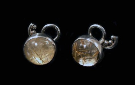 Metro Mod Man Rutilated Quartz Cufflinks CL-RQ163