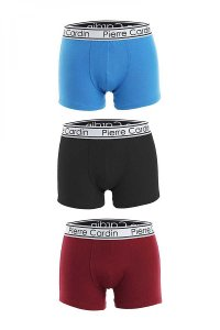 Pierre Cardin [3 Pack] Vittorio 304 Boxer Brief Underwear Blue & Black & Red