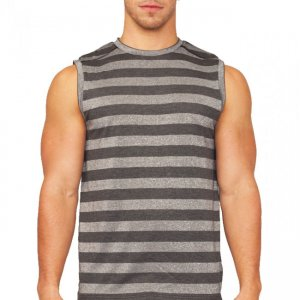 Papi After Dark Stripe Muscle Top T Shirt Black 626802