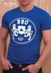 Ajaxx63 Athletic Fit Bro Crest Short Sleeved T Shirt AS64