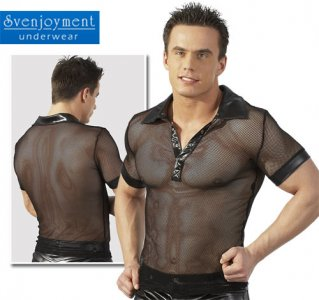Svenjoyment Sheer Short Sleeved Shirt Black 2160366