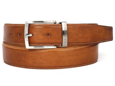 Paul Parkman Hand Painted Leather Belt Smoke Brown B01-CML