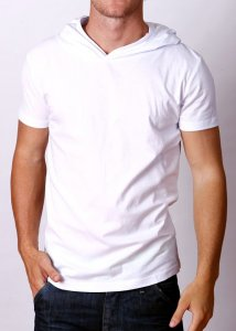 By The People Lightweight Hoody Short Sleeved Sweater White