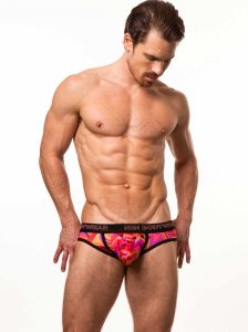 N2N Bodywear Studio Groove Brief Underwear Coral PU1