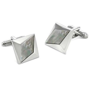 Duncan Walton Heartwood Cufflinks Smokey Mother Of Pearl C2720