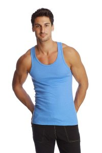4-rth Racer Back Yoga Tank Top T Shirt Ice Blue