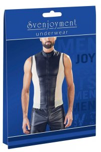 Svenjoyment Powernet Zipper Muscle Top Shirt Black/Nude 2161192