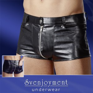 Svenjoyment Uniform Pocket Zipper Boxer Brief Underwear Black 2131480