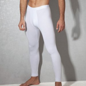Doreanse Plain Long Underwear Pants Underwear White 1950