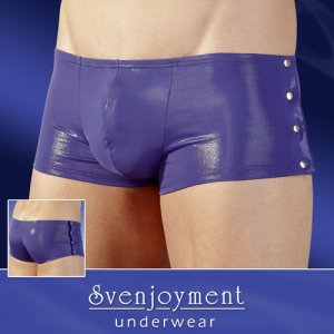 Svenjoyment Glossy Buttoned Sides Boxer Brief Underwear Blue/Violet 2130688