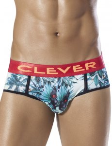 Clever Exotic Parrot Piping Brief Underwear Green 5260