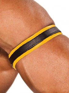 Colt Leather Bicep Strap Yellow