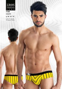Eros Veneziani Stripe Cheek Brief Underwear Yellow 7150