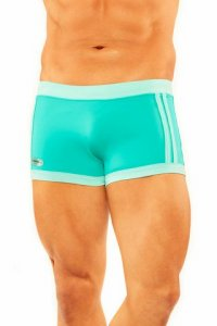Narciso Square Cut Trunk Swimwear BAHAMAS GREEN/TURQUOISE