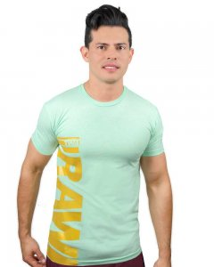 The Well Branded Raw Basex Short Sleeved T Shirt Mint