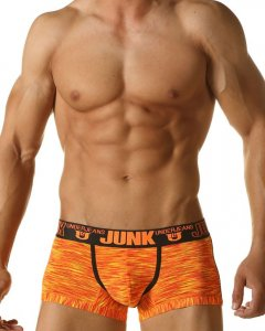 Junk Underjeans Analog Microfiber Boxer Brief Underwear Orange MB19002