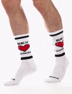 Barcode Berlin Sex Worker Gym Socks White/Black 91625-204